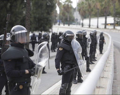 LOS GUARDIAS CIVILES DESPLEGADOS EN CATALUÑA, DEBEN COBRAR MENOS