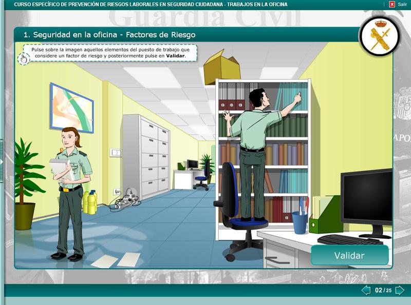 Uni n oficiales sensibilidad del director general de la for Riesgos laborales en oficinas